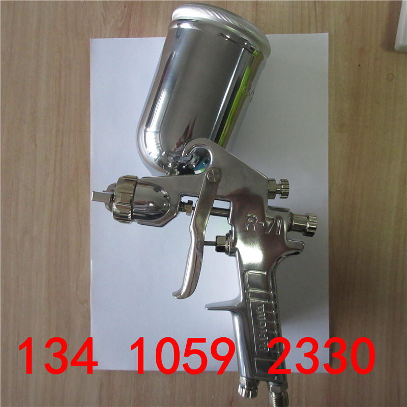 Prona R71 spray gun (gravity,suction,pressure feedtype to choose), R-71 painting gun, free shipping, different nozzle size