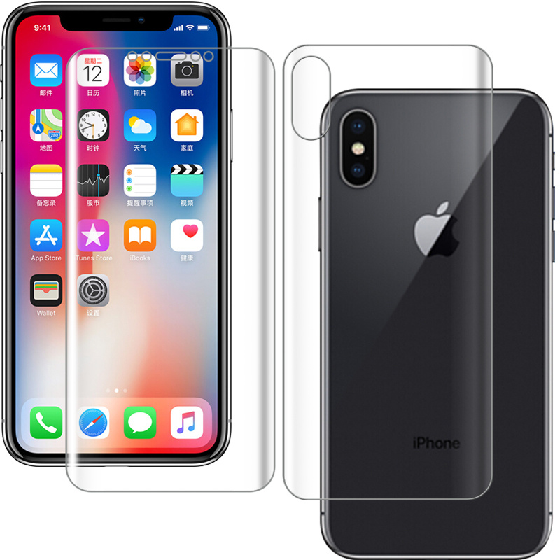 for iphone xs max screen protector front and back film for