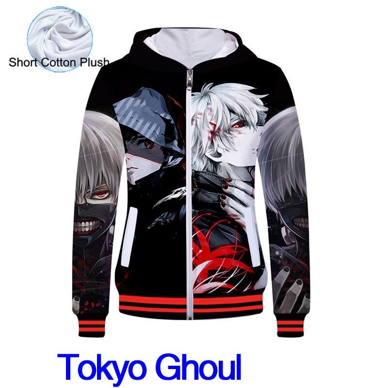 Fans Made 2019 Unisex Cotton Hooded Sweatshirt Anime Tokyo Ghouls 3D Hoodies Cute Cartoon Cosplay Costume Hoodie