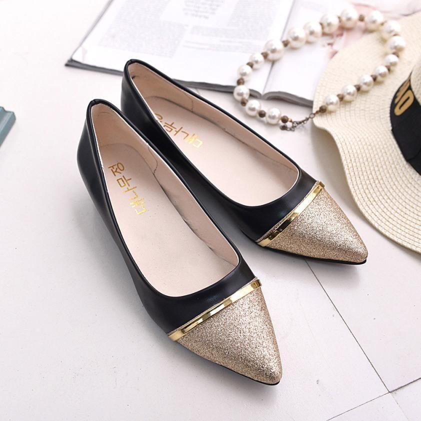 Confortable Mode Mocassins Lady Bas Talon Plat Plates Femmes Chaussures Casual black Bout Begie Pointu qxxfTvgw
