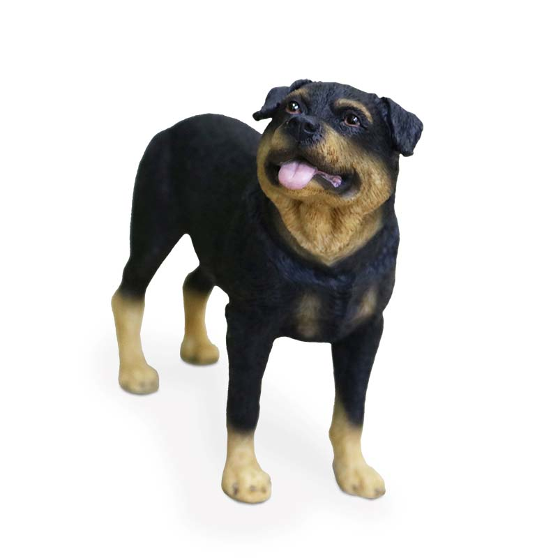 Mnotht Mini Toy 1/6 Rottweiler Dog Simulation Stand Dog Dog Model - Խաղային արձանիկներ - Լուսանկար 2