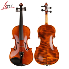 TONGLING Brand High-grade Natural Stripes Maple Full Hand-made Alcohol Paint Violin Violino 4/4 3/4 with Case Shoulder Rest Bow