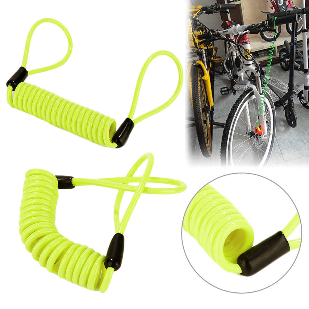 Motorcycle Bicycle Outdoor Security Scooter Disc Alarm Lock Reminder Cable 120cm