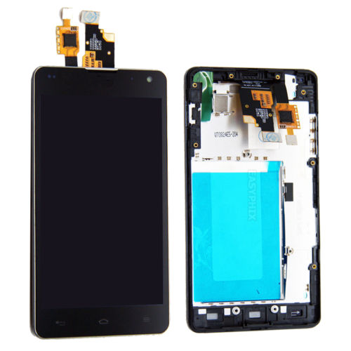 High Quality New LCD Touch Screen Digitizer Frame Assmbly for LG Optimus G E975 E973 free