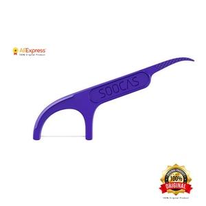 Image 4 - Xiaomi Soocas Toothpicks Dental Flosser Tape Scraper 3 in 1 Xiaomi Soocare Cleaning Professional Dental floss 50 PCS Toothpicks