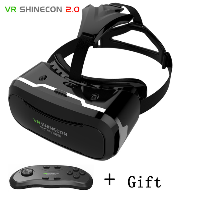 SHINECON II Latest Upgraded Version VR Virtual Reality 3D Glasses With Bluetooth Remote Control Gamepad For Smartphones