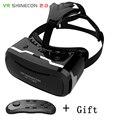 Shinecon ii última versão atualizada vr realidade virtual óculos 3d com gamepad do bluetooth controle remoto para smartphones