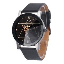 Fashion Women Men Watches Number Dial Vintage Faux Leather Clock Bracelet Quartz Wrist Watch Ladies Boy wholesale