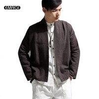 5 צבעים באיכות גבוהה פשתן מעיל גברים מעיל זכר מזדמן אופנה סתיו אביב מעיל קרדיגן בסגנון סין