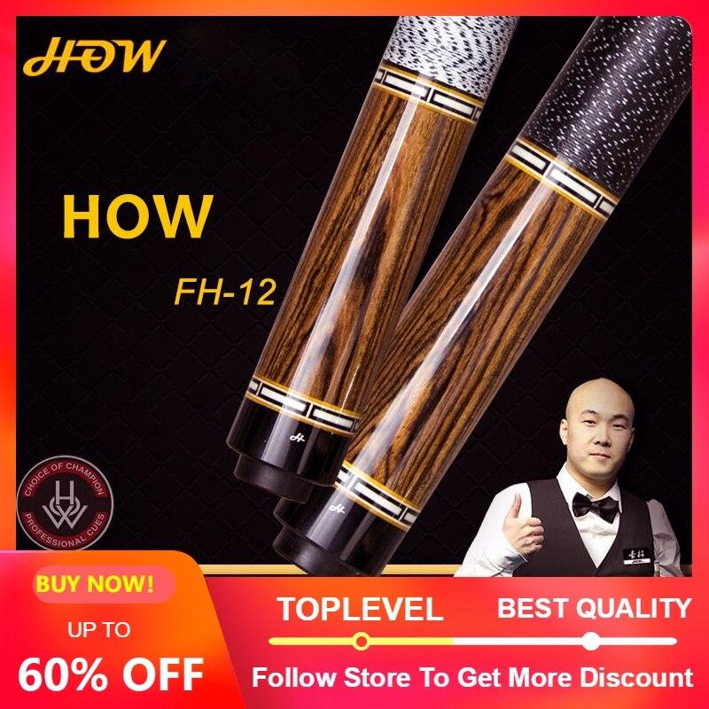 Comment Offical Store Original comment queue de piscine FH-12B 100% fait à la main professionnel Black8 queue de billard bâton de piscine véritable 13mm pointe