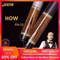 HOW Offical Store Original HOW Pool Cue FH-12B 100% Handmade Professional Black8 Cue Billiard Pool Stick Genuine 13 mm Tip