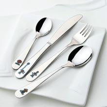 LEKOCH Baby Cutlery Set 18/10 Stainless Steel Children Flatware Set With Cartoon Handle Fork Spoons Knife Silverware Set