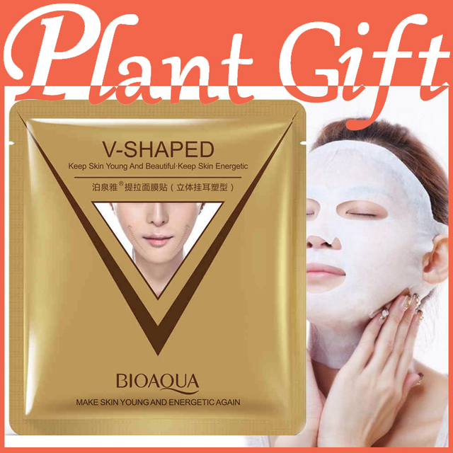 8pcs*40g sheet mask face care facial chin V shape lifting collagen face masks cosmetic firming whitening beauty mask face