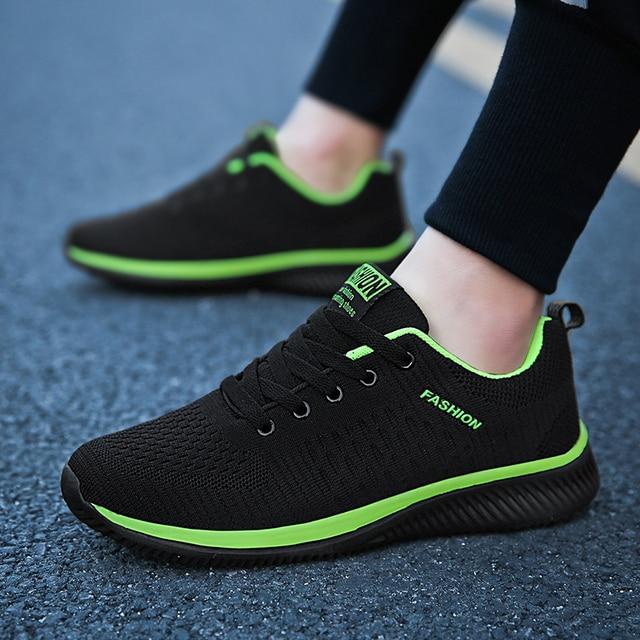 Hemmyi Krasovki Người Đàn Ông Giày Thể Thao Mùa Thu Thời Trang Giày Cao Su Duy Nhất Thoải Mái và thoáng khí Giày Nam Giảng Viên Casual Shoes Màu Đen 38-45