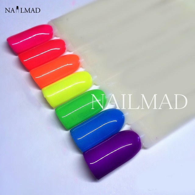 6 kolory Neon Neon Pigmenty Pigment Powder Ombre Gradientu Paznokci Pigmenty Gradientu Neon Proszku Pyłu