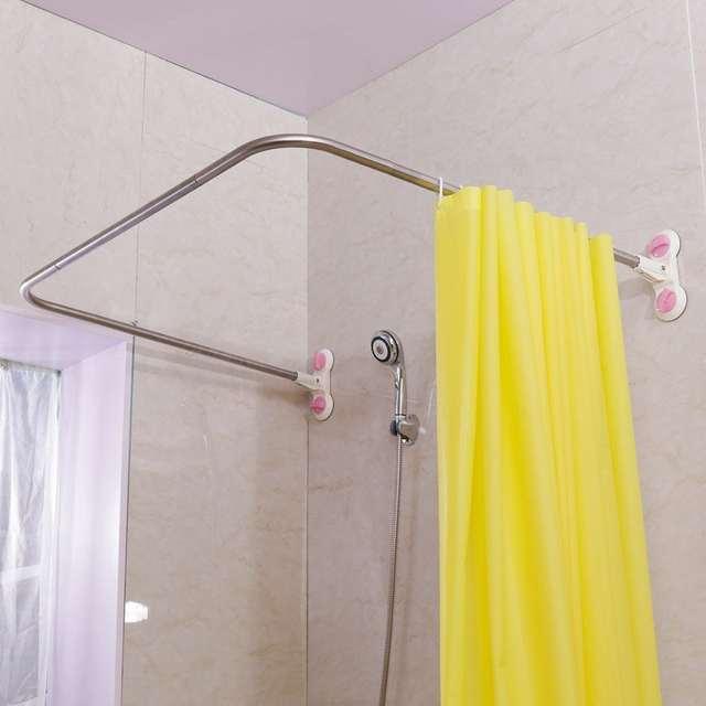 Curved Corner Shower Curtain Rod U