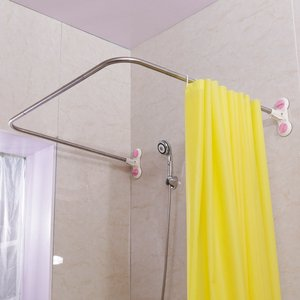 Curved Corner Shower Curtain R