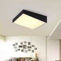 Современный офис освещения Потолочные светильники квадратный спальня лампы LED Ресторан плафоны исследование Творческий потолочные светил