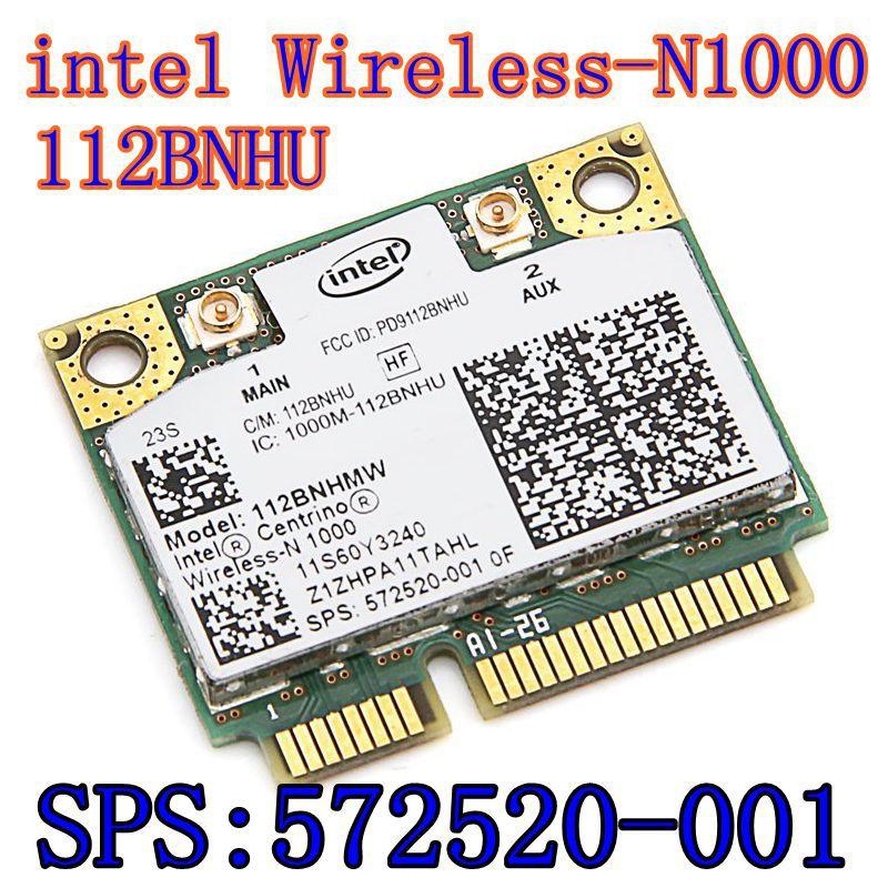 New Original Wireless card Intel Centrino Wireless-N 1000 112BNHMW 300Mbps 802.11b/g/n Mini PCI-E SPS: 593530-001 intel N1000(China)