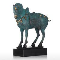 Tooarts китайский лошадь Бронзовая статуэтка элегантный моделирования Китайский характеристики животных фигурка коня подарок для украшения