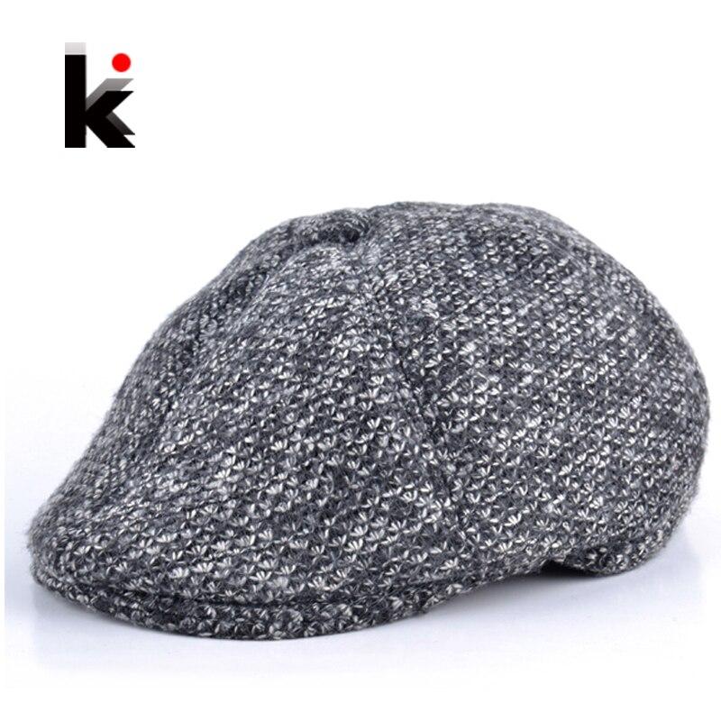 2017 inverno boina boina chapéu gorras planas mais grossa de veludo para os homens cap jornaleiro taxista mens chapéus