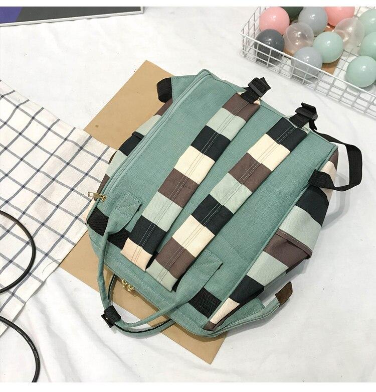 HTB1gq3aUgHqK1RjSZFEq6AGMXXat 2019 Korean Style Women Backpack Canvas Travel Bag Mini Shoulder Bag For Teenage Girl School Bag Bagpack Rucksack Knapsack