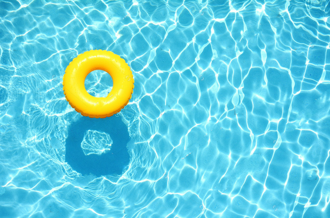 summer Yellow Pool Float Blue Swimming Pool photo studio background Vinyl cloth High quality Computer print wall backdrops