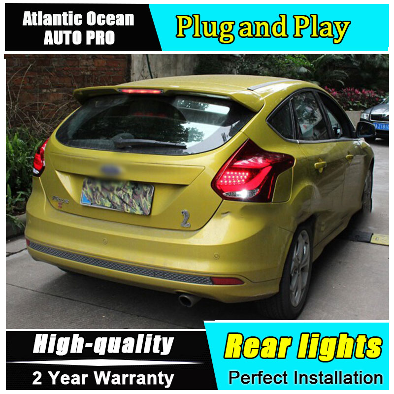 2012-2014 For <font><b>Ford</b></font> <font><b>focus</b></font> hatchback LED <font><b>taillights</b></font> rear lights parking For <font><b>Ford</b></font> <font><b>Focus</b></font> foglights rear light car styling image