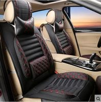 Car Seat Cushion Four Seasons 2Pillows As Gift High Quality Embroidery Danny Leather Car Seat Cover