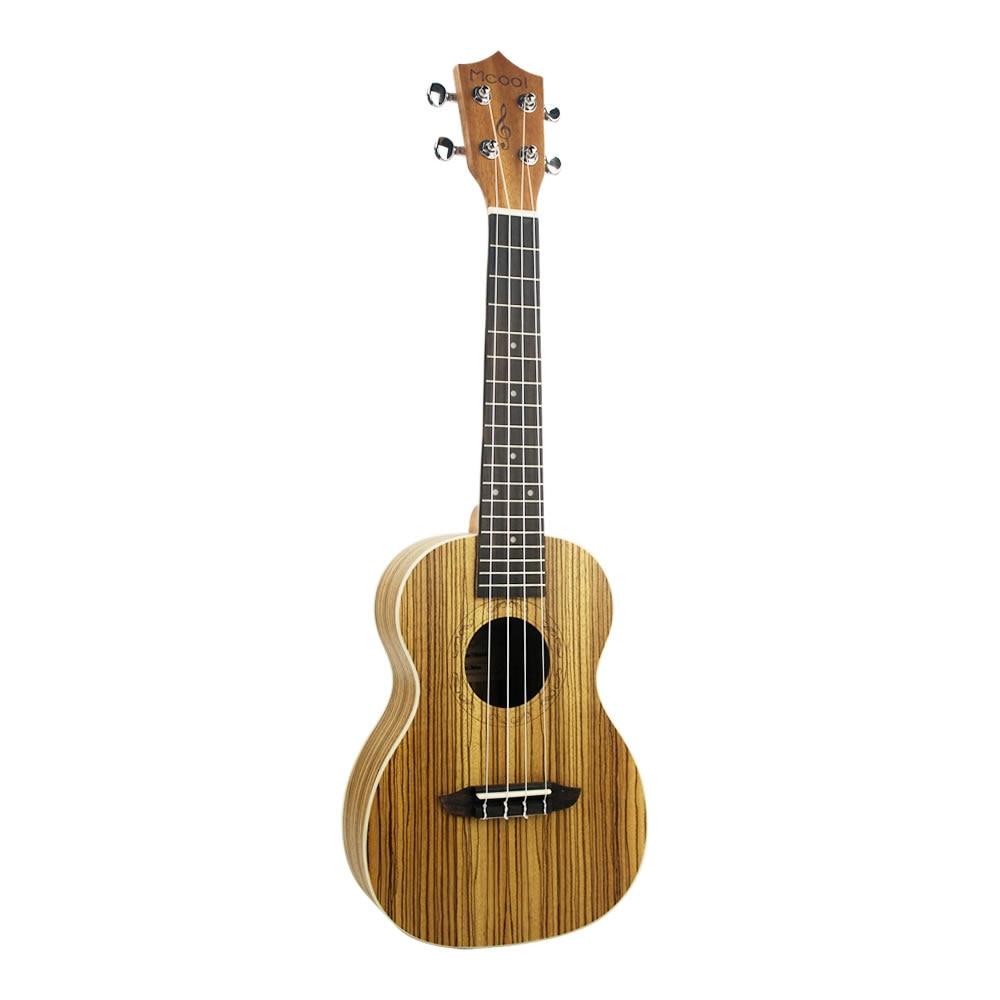 Mcool 23 pulgadas Concert Ukulele de Mini Guitarra Hawaii Uke Brasil Zebrawood Ukulele Palisandro 4 Cuerdas Instrumentos Musicales
