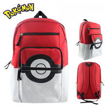 Hot Sale Pokemon Poke Ball 3D Backpacks Canvas Cartoon Shoulder Bags for Teenage Girls Boys Laptop Rucksack Schoolbags Best Gift