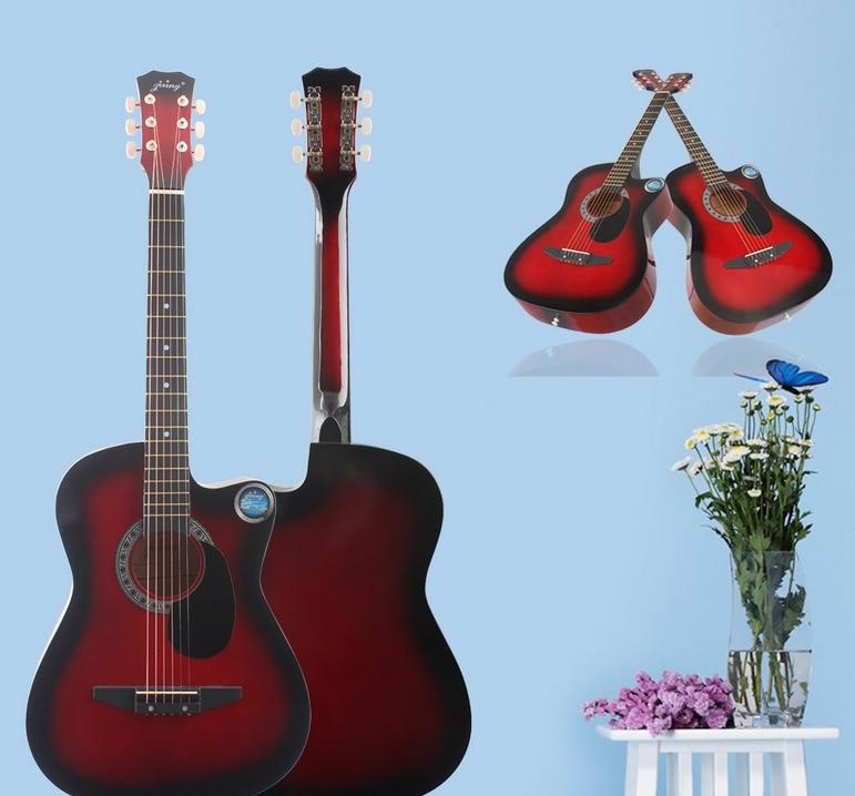 2017 Gemstar guitare folk guitare acoustique 38 pouces coupe guitare acoustique débutant guitare dédiée