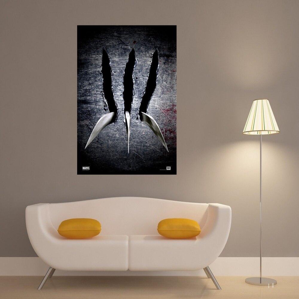 Pata de Wolverine vintage lienzo impresión del arte pintura cartel ...