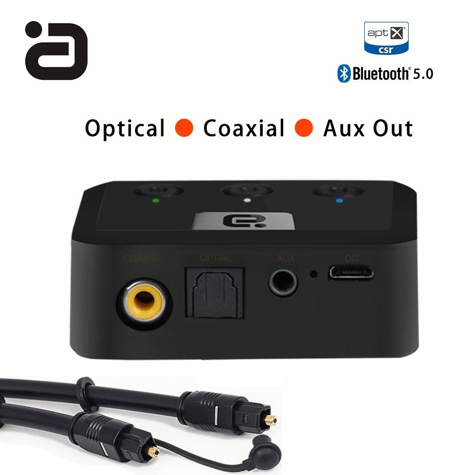 Ayin MR235 Sans Fil Bluetooth 5.0 Audio Récepteur aptX Optique, coaxial et 3.5mm Aux Musique Audio Adaptateur pour Haut-parleurs Stéréo À La Maison
