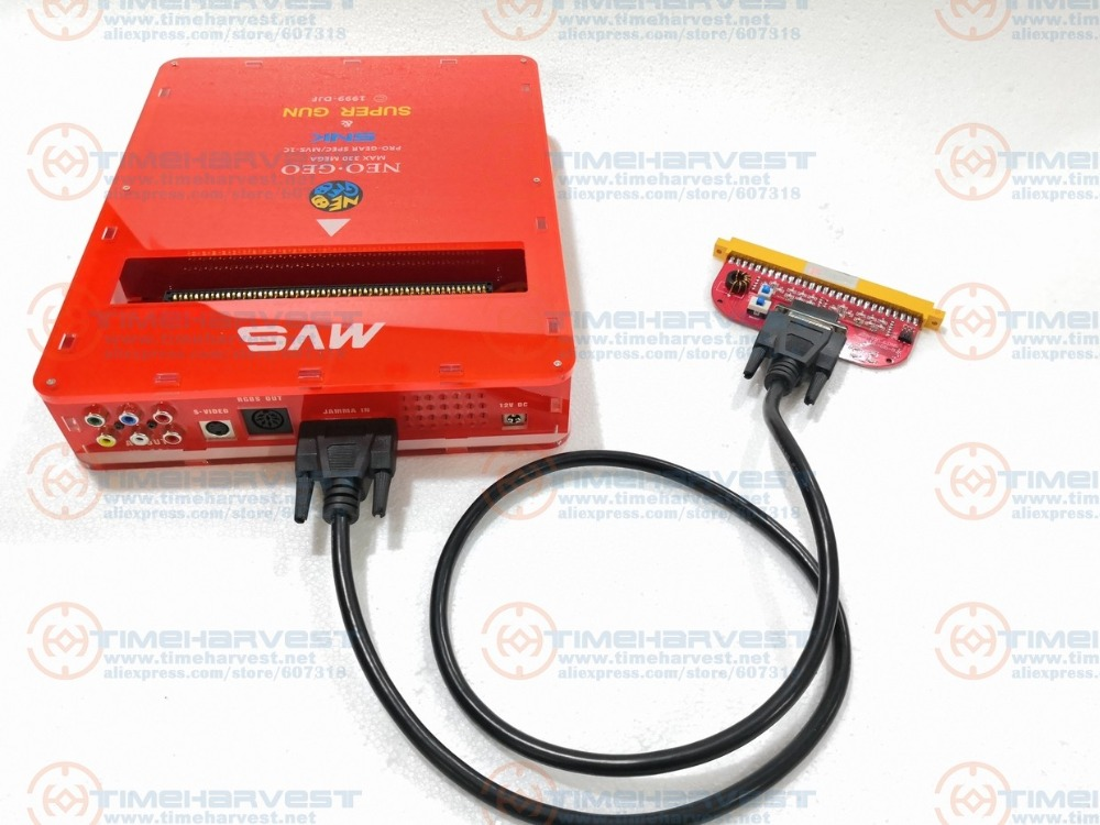 NEW VERSION 2 IN 1 <font><b>CBOX</b></font> <font><b>MVS</b></font> SNK NEOGEO CMVS + JAMMA SUPER GUN 2 function To play the Game Cartridge with SNK Joypad or SS joypad image