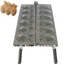 Японская рыба торт форма тайяки тарелка железа для 6 штук рыбы
