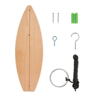 Tiki Toss Hook And Ring Toss Game Short Board Edition Bamboo Party Game For Indoor or Outdoor