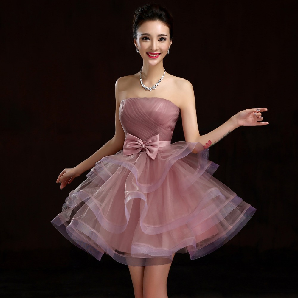 2017 Short Blush Pink Bridesmaids Dress Maid Of Honor