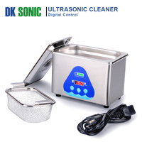 800ml 35W Ultrasonic Jewelry Cleaner Stainless Steel Home Ultrasound Bath Eyeglasses Coins Rings Watches Chains Dental Parts