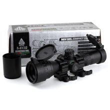 Tactical Riflescope Leapers UTG Optical 3-9×32 AOLWQ 1inch Tube Mil-dot Compact With Sun Shade and QD Rings Hunting Rifle Scope