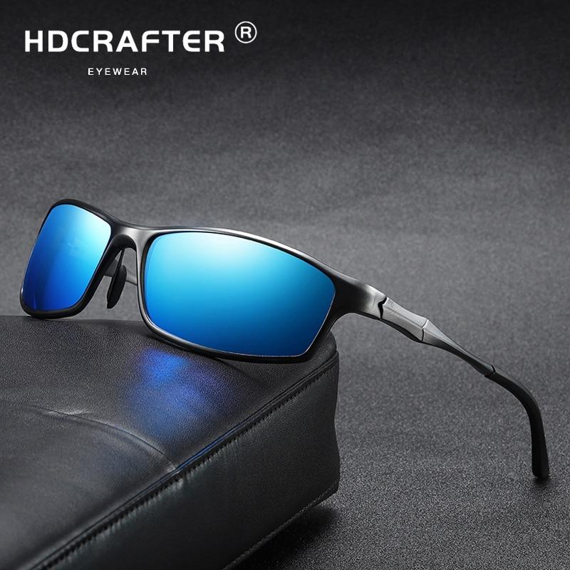 Men Polarized Sunglasses Aluminum Magnesium Sun Glasses Driving Glasses Rectangle Shades For Men Oculos masculino Male