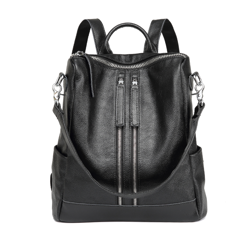 Lasen Bag Genuine Leather Backpack Women Designer bags High Quality Shoulder Bags New School Bags For Teenagers Girls sac a dos new fashion women bag messenger double shoulder bags designer backpack high quality nylon female backpack bolsas sac a dos