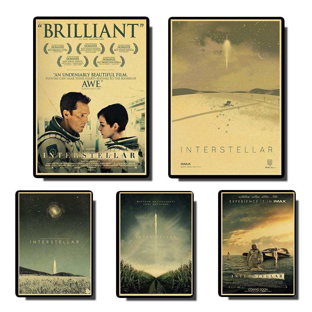 Interstellar Vintage Posters Prints Wall Painting High Quality Decor Poster Wall Painting Home Decoration