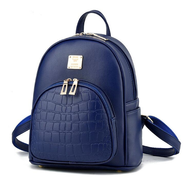 pequena escola bolsa de moda Color : Black, Light Blue, Dark Blue, Red, Pink, Grey, Beige