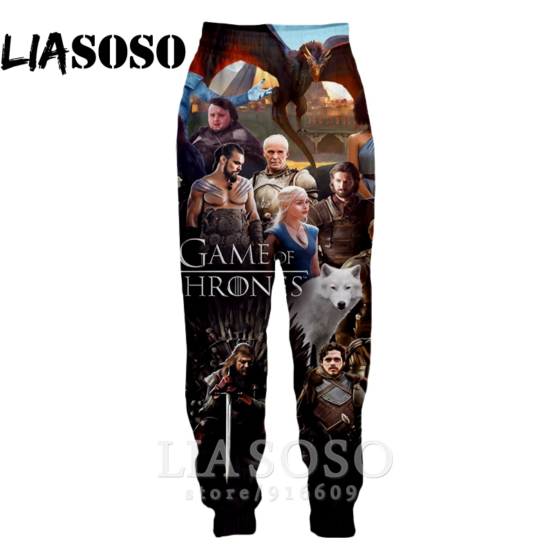 3d Print Men Women Full Length Dragon Sweatpants Harajuku Winter Fashion Pants Anime Casual Game Of Thrones Jogger Trousers E569