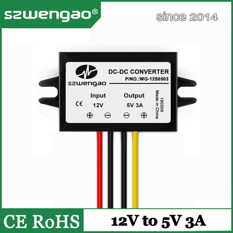 12V to 5V 3A Step Down DC DC Converter 12 Volt to 5 Volt 3