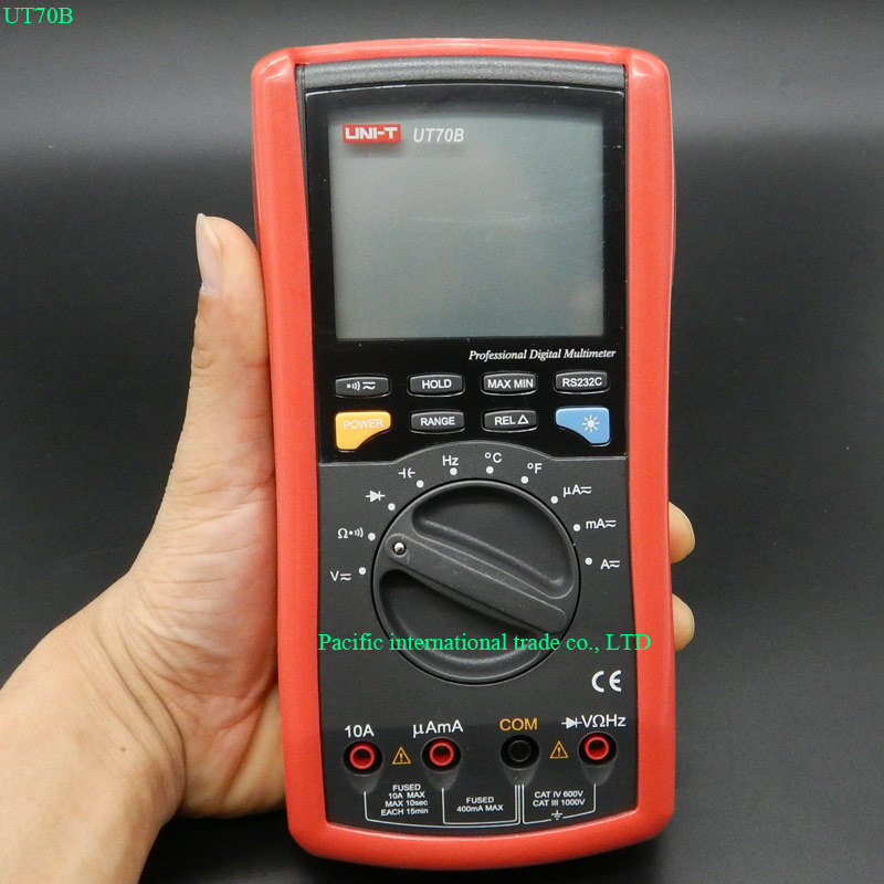 UNI-T UT70B LCD Digital Multimeter Auto Range frequency conductance logic test transistor temperature analog display multimeter test leads digital auto range