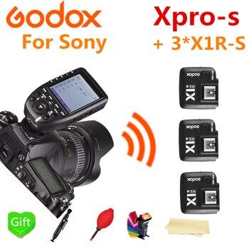 Godox Xpro-S HSS TTL Wireless Flash Trigger Transmitter + 3* X1R-S Receiver for Sony Camera Godox V860II-S TT600S TT685-S Flash