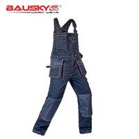 Oferta Peto para hombre y mujer overoles de trabajo bolsillos multifuncionales Repairman strap monos pantalones uniformes de