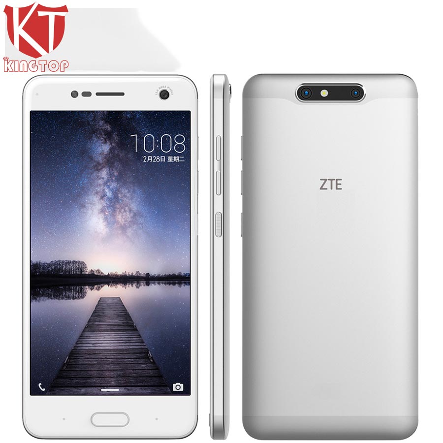 KT Original ZTE Blade V8 5 2 inch Mobile Phone Octa Core Android 7 0 4GB